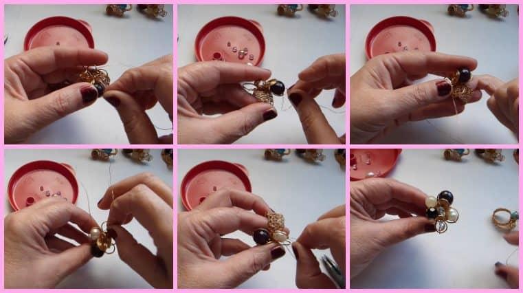 Anillos con Base Tejida con Engarce de Cristales collage 10