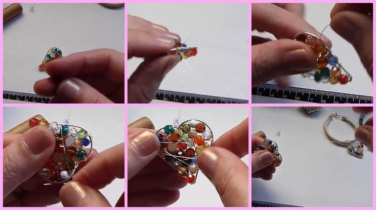 pulseras de alambre y gemas