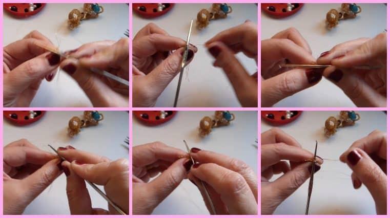 Anillos con Base Tejida con Engarce de Cristales collage 3