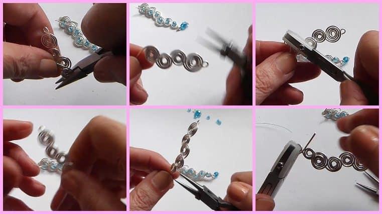 tutorial Aretes De Forma Espiral Con Alambre Y Cristales
