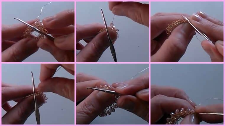 aretes con alambre y cristales DIY