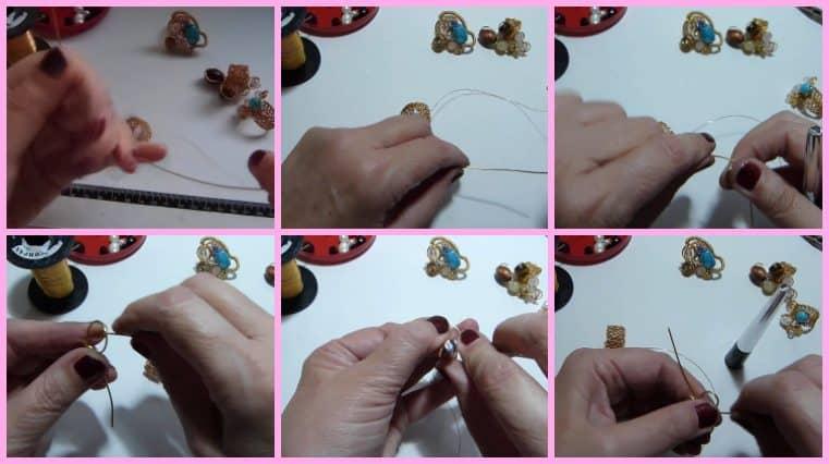 Anillos con Base Tejida con Engarce de Cristales collage 7