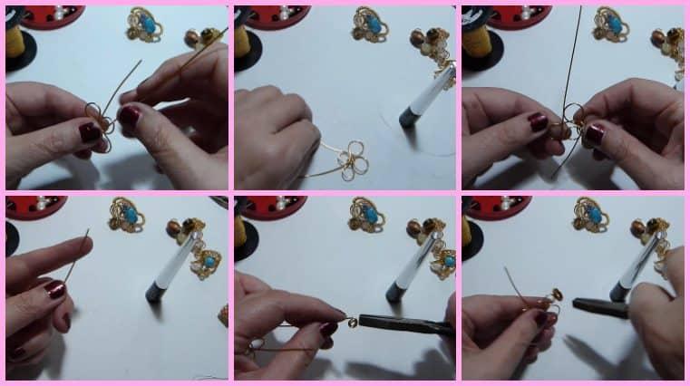 Anillos con Base Tejida con Engarce de Cristales collage 8