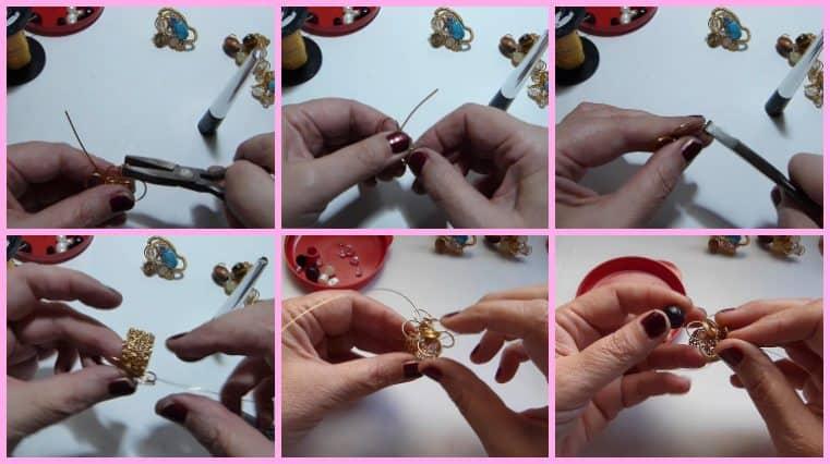 Anillos con Base Tejida con Engarce de Cristales collage 9