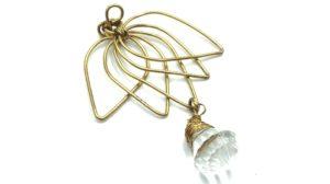 colgantes de alambre flor de loto