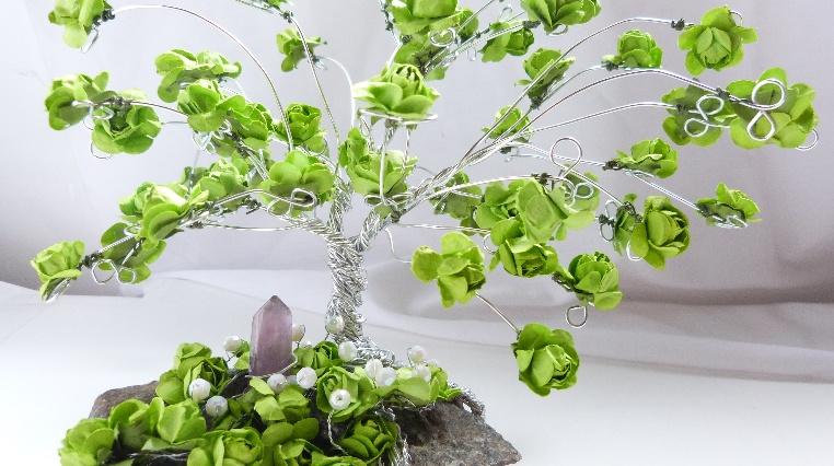 Árbol Primaveral de Alambre