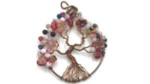 árbol de la vida con cristales