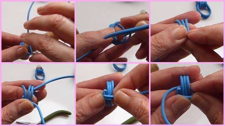 Anillos Con Cable Eléctrico Y Perla diy