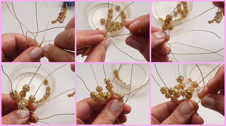 como hacer Colgante Árbol De La Vida Con Esferas De Cristales