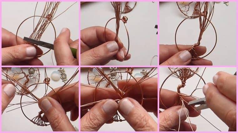 como hacer Árbol De La Vida Con Búho Sobre La Rama Y Luna