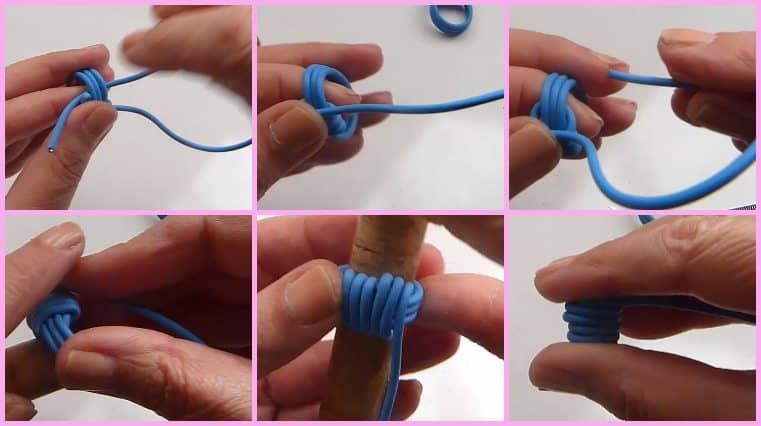 como hacer Anillos Con Cable Eléctrico Y Perla