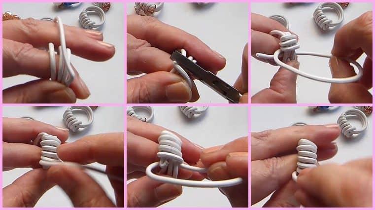 como hacer Anillos Con Cable Eléctrico Y Alambre