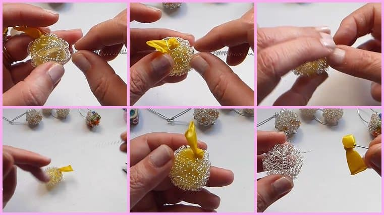 como hacer Aretes De Alambre Bola De Fuego Con Cristales