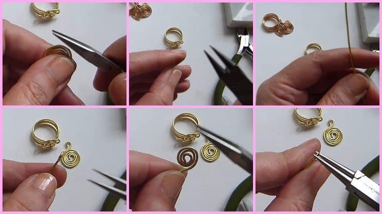 tutorial Anillos De Alambre Con Adornos De Espirales