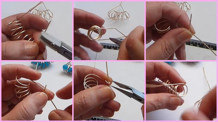 aretes resorte paso 6
