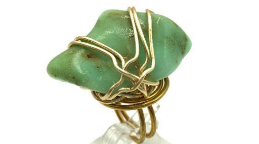 anillos de alambre con gemas que no tienen orificio