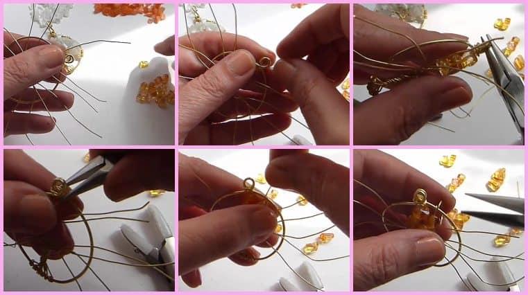 Colgante Árbol De La Vida Naranjo DIY tutoriales de joyeria