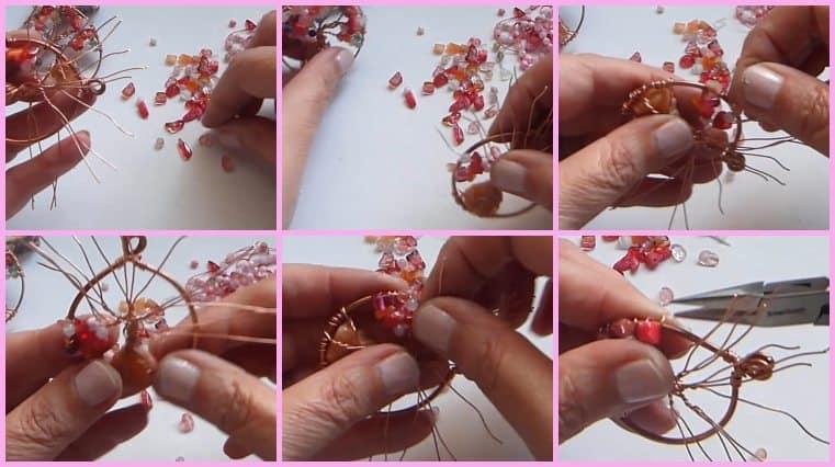 Árbol De La Vida Con Piedra Central Como Raíz tutoriales de joyeria