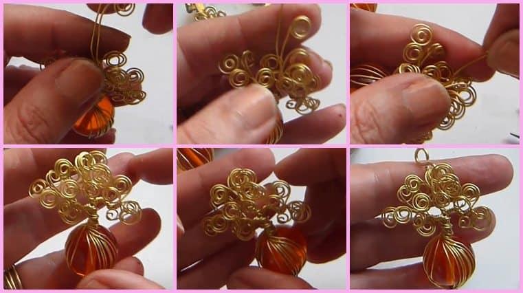 Árbol De La Vida Con Tronco De Cristal Y Ramas Circulares tutoriales de joyeria