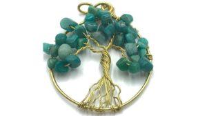 colgante árbol de la vida color verde