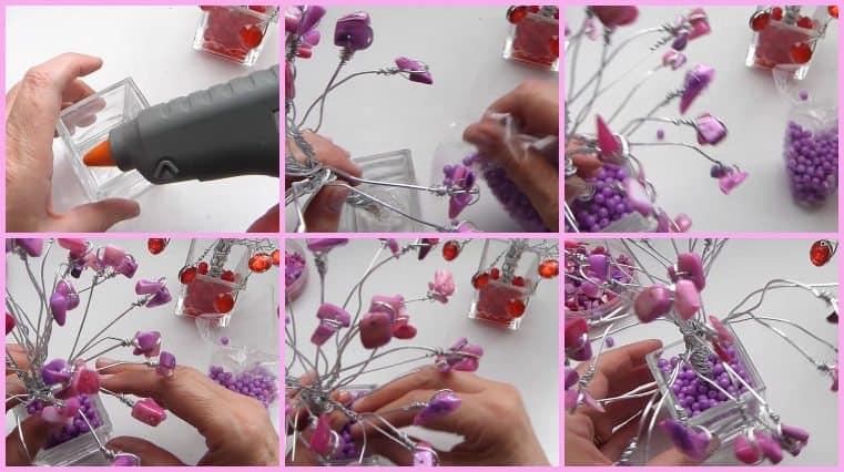 como hacer arbol de alambre