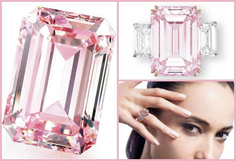Anillo Diamante Rosado Perfecto dos