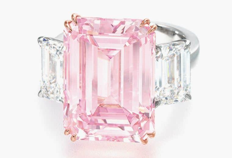 Anillo Diamante Rosado Perfecto uno