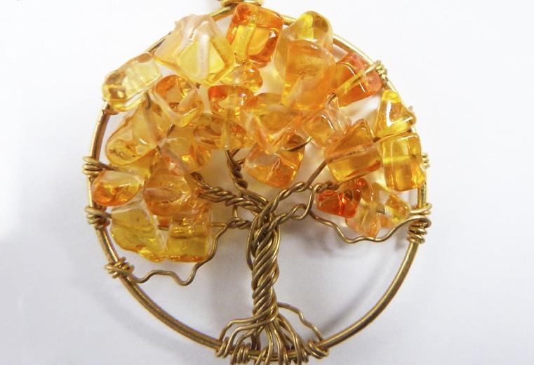 Colgante árbol de la vida naranjo