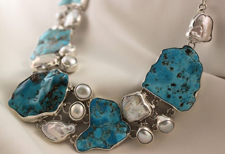 collar de turquesas uno piedra turquesa