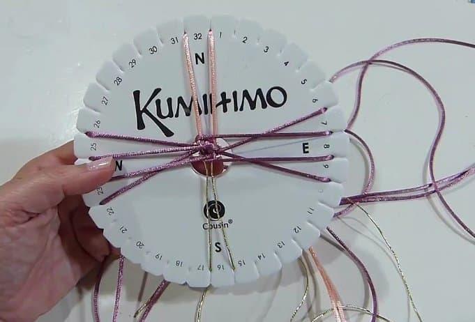 kumihimo paso a paso